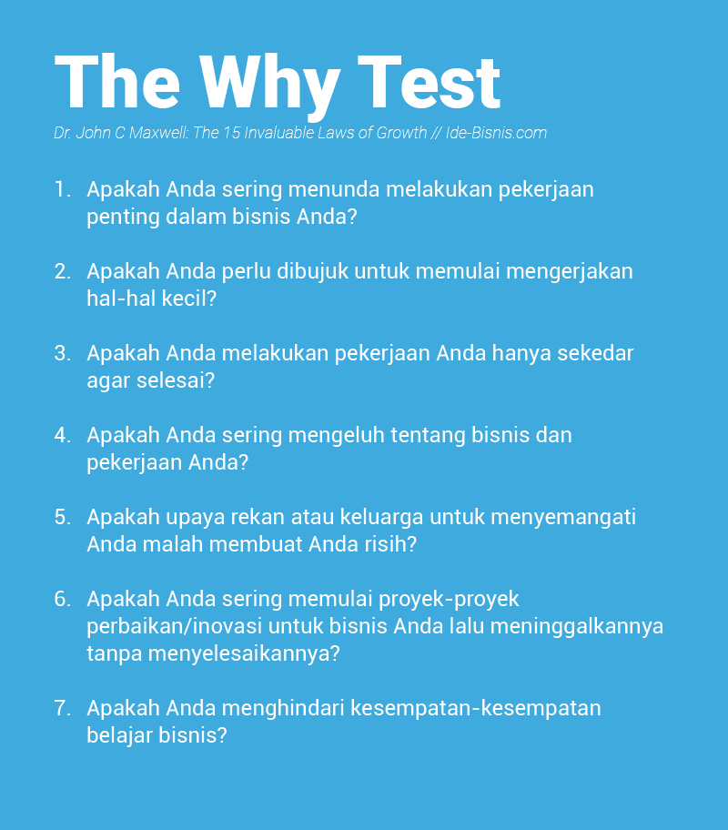 The Why Test - John Maxwell