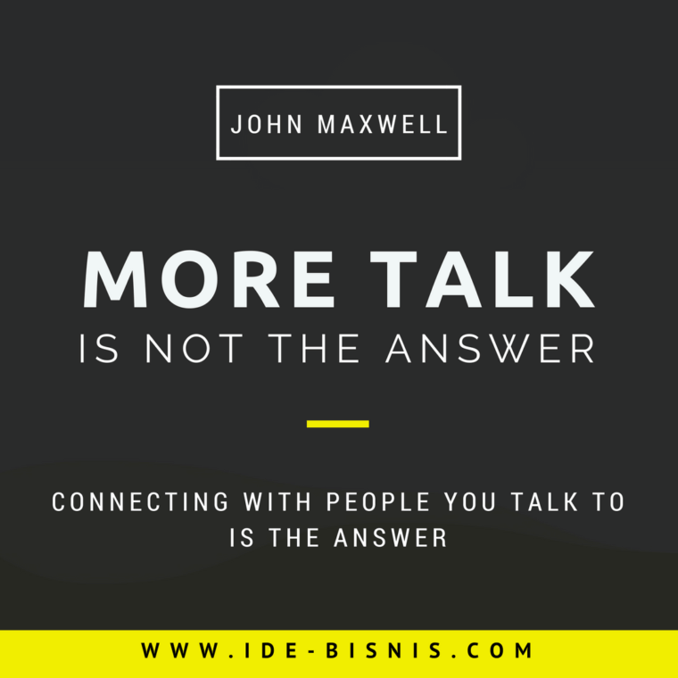 more talk is not the answer